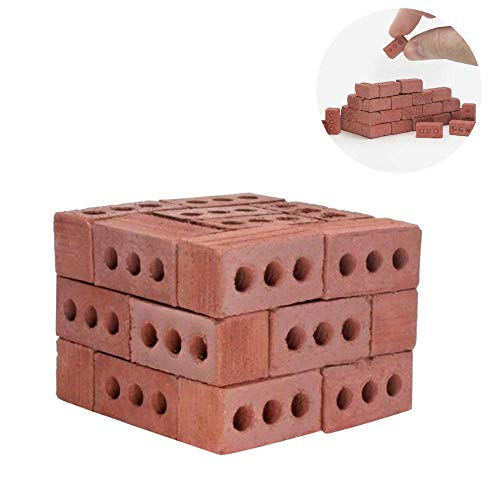 Mini Cinder Blocks - Premium Quality - 1:12/1:6 Scale, Perfect for Scale Diorama Supplies, Unique Gifts for Men, Office Desk Toy, Dollhouse Accessories- Ship from US! (Red)