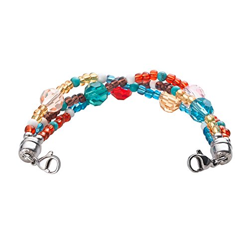Divoti Tri-Strand Crystal Bead Blue Interchangeable Medical Alert Replacement Bracelet for Women ()
