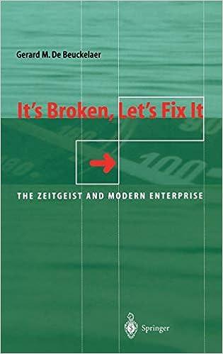 It's Broken, Let's Fix It: The Zeitgeist and Modern Enterprise