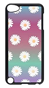 Brian114 Case, iPod Touch 5 Case, iPod Touch 5th Case Cover, Daisy Floral Flowers Retro Protective Hard PC Back Case for iPod Touch 5 ( Black )