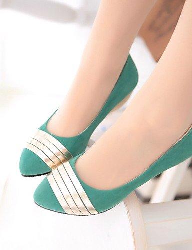 Cn34 Planos us5 Uk3 Cn39 Mujer Zapatos Green Azul Casual Oficina Comfort Cuña us8 Trabajo Eu35 Blue Tacón De Y Uk6 Negro Zq Eu39 Cuñas Vellón Vestido S0Fnwxq4BB