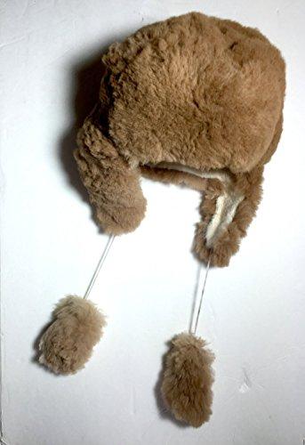 (HANDMADE Size 7 Wool Alpaca Brown Winter Unisex Russian Ushanka Earflap Hat)