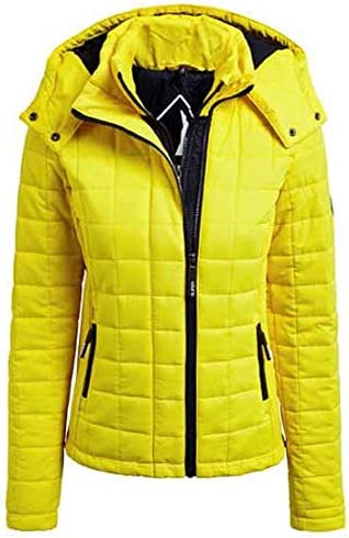 Superdry Hooded Box Quilt Fuji Cappotti Donna Flare Yellow