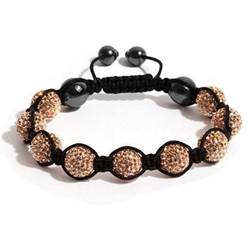 BodyJ4You Bracelet Crystal Balls Champagne product image