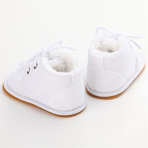 Estamico - botines de bebé de suela de goma de invierno beige beige Talla:6-12 meses blanco