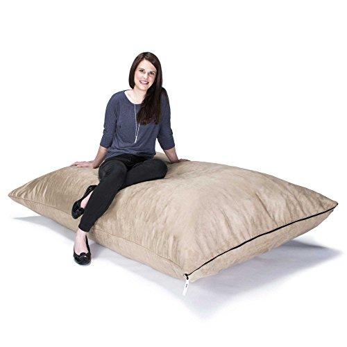 Gold Floor Pillow (Jaxx Pillow Saxx 5.5-Foot - Huge Bean Bag Floor Pillow and Lounger, Camel)