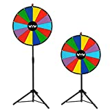 Colorful Dry Erase Spinning Prize Wheel with Tripod 24'' with 14 Slots