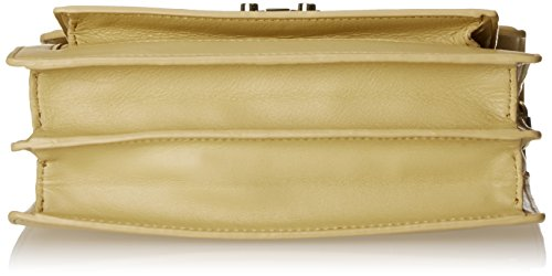 LOEFFLER Medium RANDALL Satchel Rider Gold Bag Natural wxwr1dq7