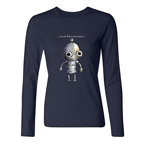 (JXK Women's Machinarium logo Long Sleeve T-shirt Size L ColorName)