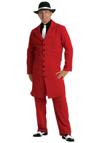 Red Gangster Zoot Suit Costume X-Large