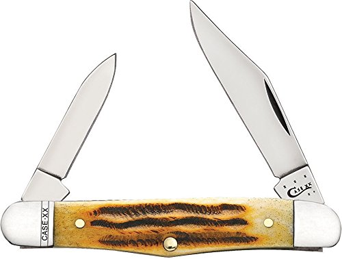 Case Cutlery 49999 Deep Canyon Half Whittler Pocketknife with Stainless Steel Blade, Goldenrod Bone
