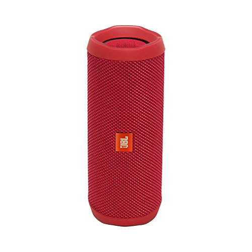 JBL FLIP 4 IPX7 WATERPROOF WIRELESS PORTABLE BLUETOOTH RECHARGEABLE USB SPEAKER (Red) (Certified Refurbished)