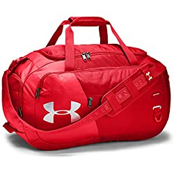 Under Armour unisex-adult Undeniable Duffle 4.0 Gym Bag, Red (600)/Silver, Medium
