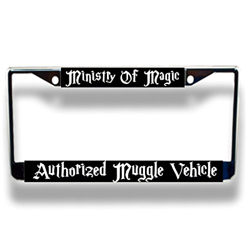 Authorized Muggle Vehicle Licensed Plate Frame Promotional License Plate Frames