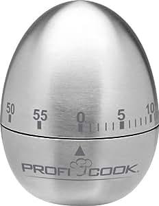 Proficook KU 1041 - Temporizador de cocina en acero inoxidable, forma huevo, 60 minutos