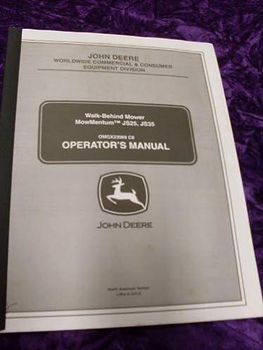 john deere js25 35 mowmentum mower oem oem owners manual john deere rh amazon com John Deere JS25 Oil Change John Deere JS25 Parts List
