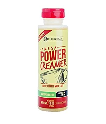 Omega PowerCreamer - The All-in-1 Grassfed Butter Creamer + Coconut Oil + MCT Oil, 10 fl oz from Omega Health Products LLC