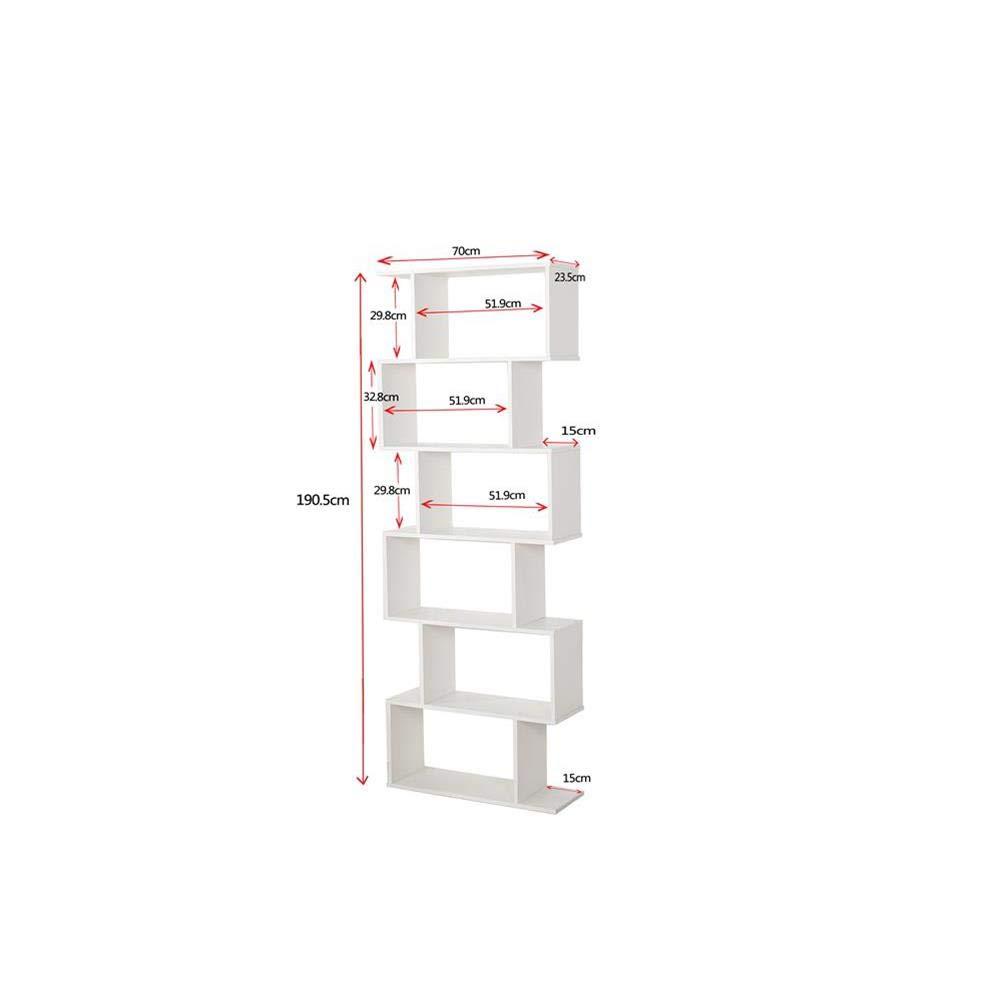 /estanter/ía de estanter/ía dise/ño contempor/áneo para Oficina y hogar de Madera MDF A d/ía/ /70/x 23.5/x 190/cm Etnicart/ 60/kg Carga autoportante con divisori-prodotto de