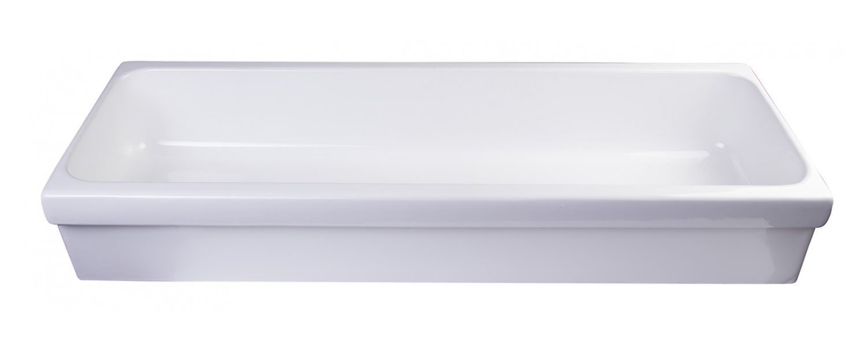 ALFI Brand AB48TR 48'' White Above Mount Porcelain Bath Trough Sink by Alfi