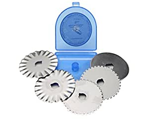 45mm Rotary Cutter Blades Replacement (SKS-7, Pack of 5)