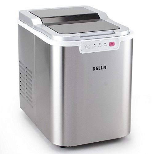 Della Portable Ice Maker Easy-Touch Buttons Yield Up To 26 Pounds of Ice Daily Countertop Machine -Stainless Steel