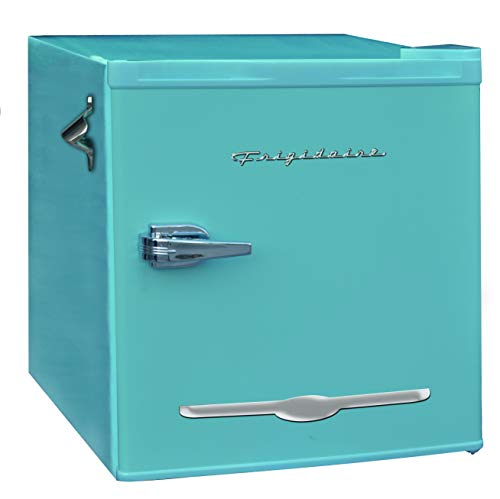 Frigidaire EFR176-BLUE 1.6 cu ft Blue Retro Fridge with Side Bottle Opener. for The Office, Dorm Room or Cabin