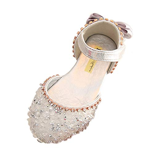 Lurryly Sandals for Girls Size 2,Sandals for Girls 4.5,Sandals for Girls 5 to 6 Years,Girls Sneakers Size 3,Boots for Girls,Silver,Recommended Age:5.5-6Years,US:12C (Footwear Silver Fabric)