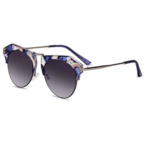 Fashion Ladies Cat Eye Sunglasses Metal Legs Polarized Sunglasses Women Gafas A137 (7971 Glass)