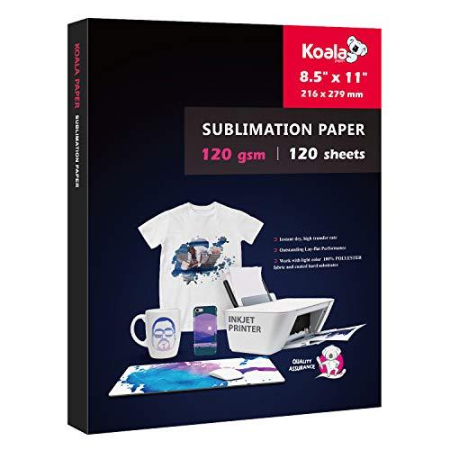 Koala 120 sheets Sublimation Paper 8.5x11 for Heat