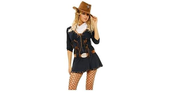Elegant Moments - Disfraz de sheriff para mujer, talla S (ELE9697 ...