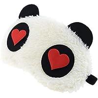 24x7 eMall Fabric Heart Panda Sleep Mask (White)