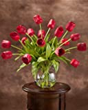 Abundance of Tulips Silk Centerpiece - Red