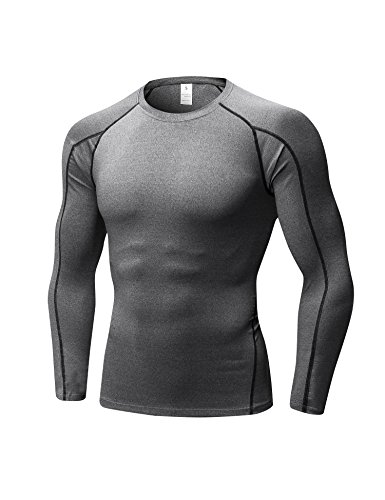 DZRZVD Replacement for Men's Long Sleeve T-Shirt Baselayer Compression 1059 Gray