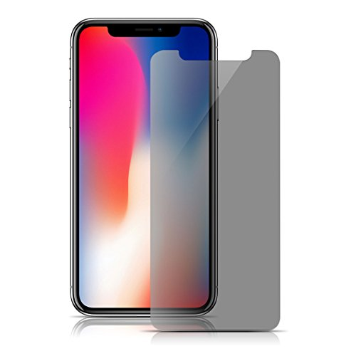 MOZEEDA iPhone X Privacy Screen Protector,MOZEEDA Tempered Glass Screen Protector