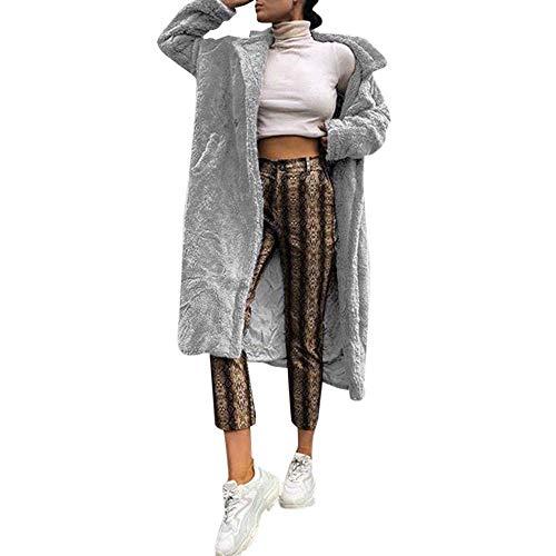 Casual Spogliatoio Elegante Outwear Grau Vintage Marrone Soprabito Invernale Donne Pelliccia Cappotto Sintetica Di In Rosa Grigio Lunga Classiche Parka Nero Manica Bavero DH9EI2