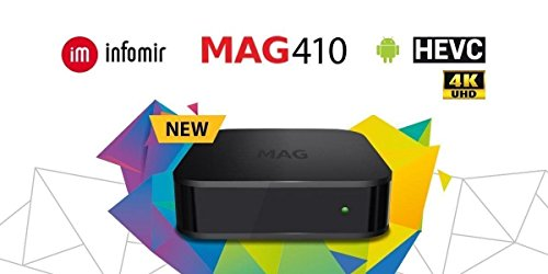 NEW  MAG 410 Mag410 UHD 4K Video IPTV OTT Streamer BOX Android ( Much faster and Better than Mag254 model) - Infomir Infomir MAG 410