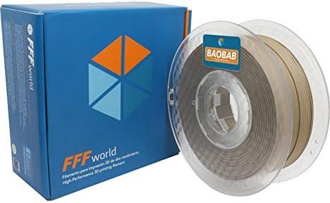 FFFworld 1 kg. Baobab 1.75 mm - Filamento de Madera para Impresora ...