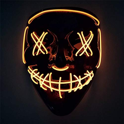 TANGGOOO 2019 Halloween Up Mask for Festival Cosplay Halloween Fluorescent Luminous Party Mask Costume Boy Must Haves Gift Bags Childrens Favourites Superhero Party Supplies UNbox Dolls