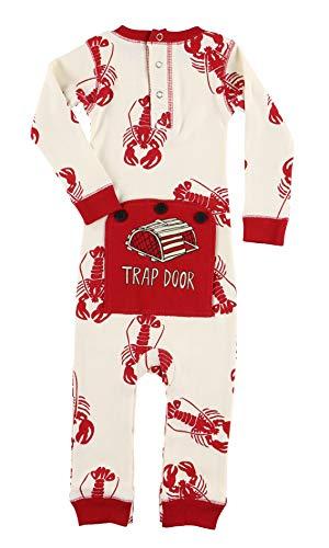 Gingerbread Door - Lobster Trap Door Baby Flapjack Onsie