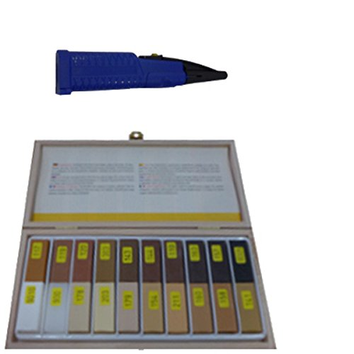 Hartwachs Reparatur Set mit Schmelzer für die Reparatur von Parkett,Laminat,Möbel,Treppen,Arbeitsplatten für lackierte und geölte Oberflächen