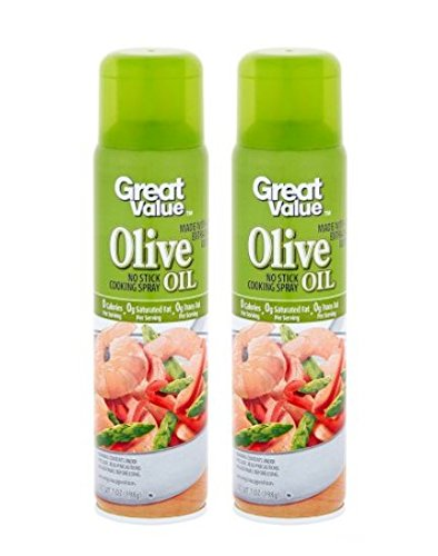 Great Value Extra Virgin Olive Oil Cooking Spray, 7 Oz (Pack of 2) by Great Value