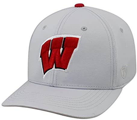 wholesale dealer 73a68 fdf87 Amazon.com   Top of the World Wisconsin Badgers Official NCAA One Fit Impact  Hat 058429   Sports   Outdoors