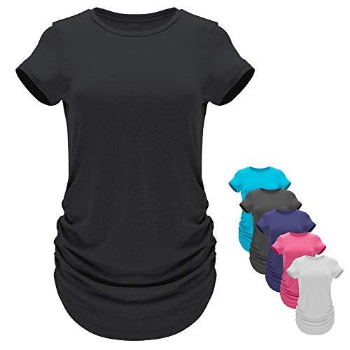 GO HEAVY Damen Multifunktions Sport T-Shirt Langer Schnitt