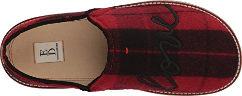 Ellen Womens ED Tillie DeGeneres Slipper Tartan Black Red fqddxC