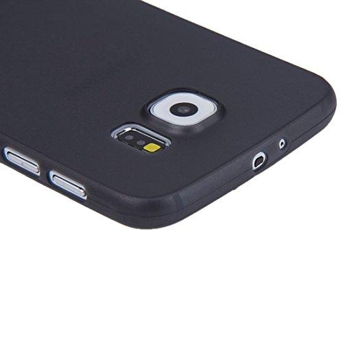 Funda Iphone, Para la galaxia S6 / G920 de Samsung 0.3mm ultrafino que protege la caja de la PC ( Color : Green ) Black