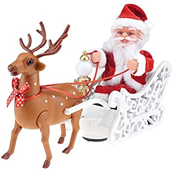 Santa Claus Climbing Chimney Doll Electric Toys With Music Children Kids Gifts