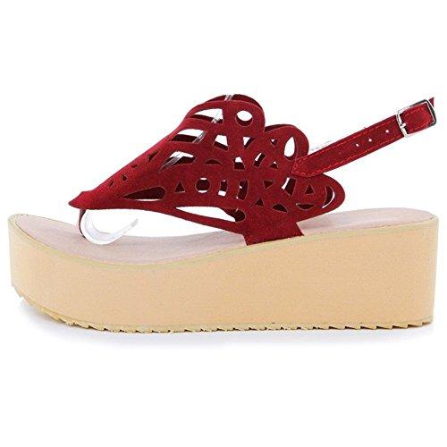 TAOFFEN Red Talons Sandales Toe Femmes Clip nUwBqg