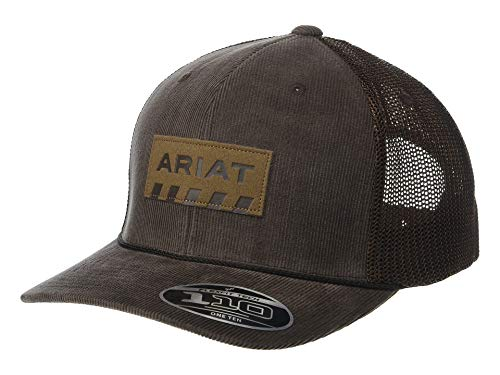 ARIAT Men's Flexfit110 Snapback Corduroy Rebar Patch Logo Brown One Size