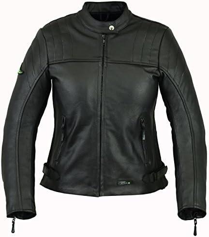 RIDEX Ladies/Women LJ6 Biker Motorbike Motorcycle Leather Jacket