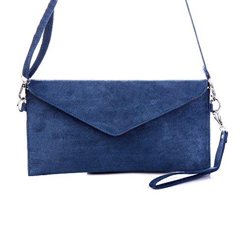 Pochette D'Embrayage Tedim Main Faux à Femmes Sac Bleu Enveloppe Daim Enveloppe wZYOSaIqx
